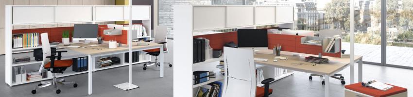 postazione operativa scrivania contenitore comby las mobili